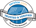 verified contractor service badge blue nail roofing company