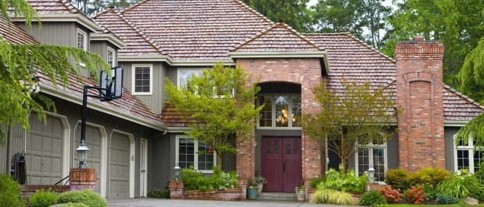 what are designer shingles? beautiful house with designer shingles