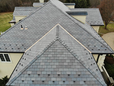 This Morris County home with a DaVinci Slate roof.