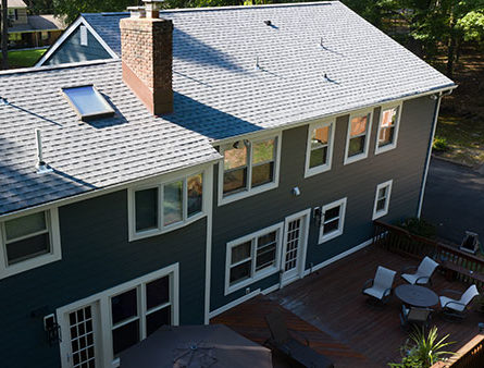 This Morris County home has had GAF Timberline HD installed.