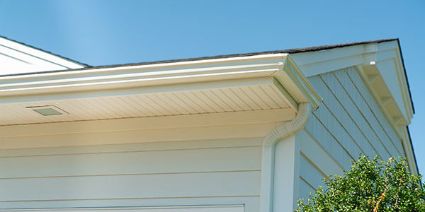 This is another example of a home with aluminum gutters.
