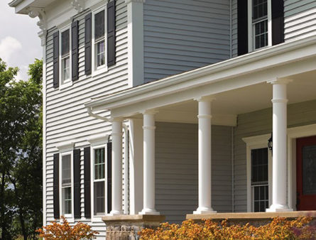 An example of Certainteed Monogram XL Siding on a white home.